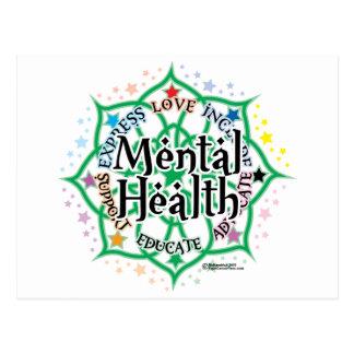 Mental Health Lotus Postcard