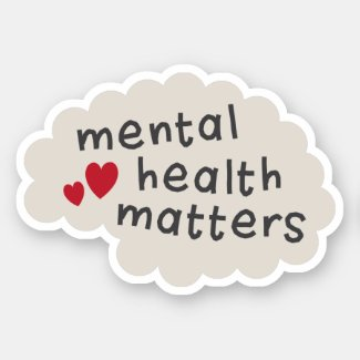 Mental health matters text on brain