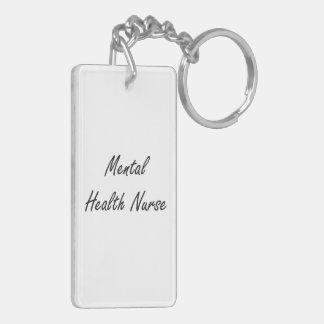 Mental Health Nurse Artistic Job Design Double-Sided Rectangular Acrylic Key Ring