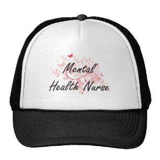 Mental Health Nurse Artistic Job Design with Butte Cap