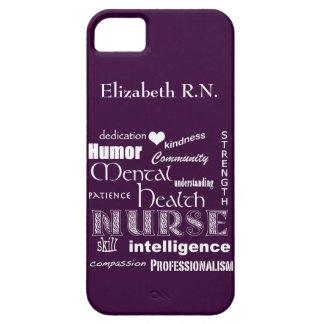 Mental Health Nurse-Attributes /Plum iPhone 5 Cover