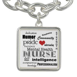 Mental Health Nurse-Attributes+Text Design Bracelets