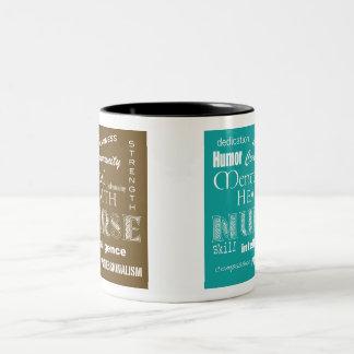 Mental Health Nurse-Brown+Blue Two-Tone Coffee Mug