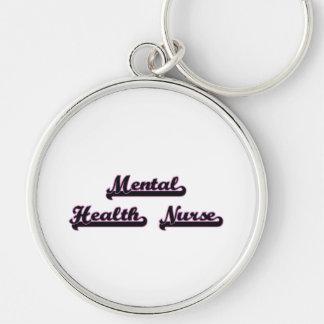 Mental Health Nurse Classic Job Design Silver-Colored Round Key Ring