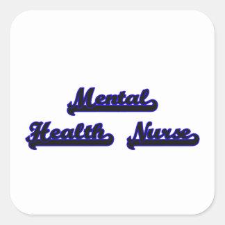 Mental Health Nurse Classic Job Design Square Sticker
