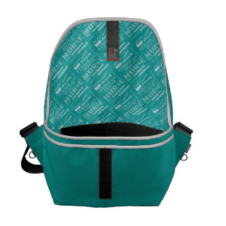 Mental Health Nurse Pride-Attributes/Aqua+Heart Commuter Bag