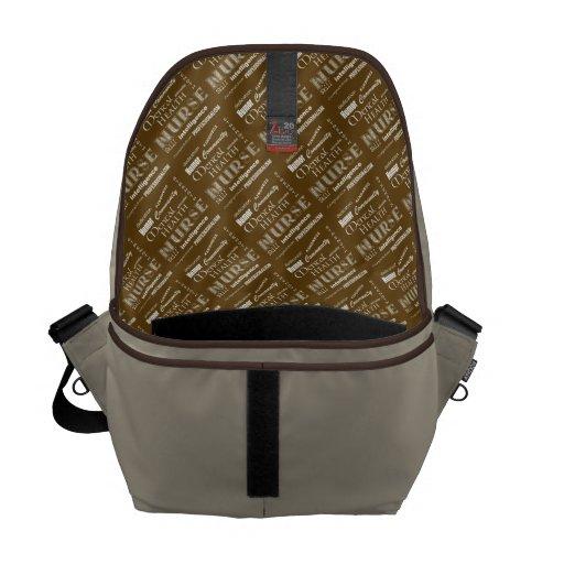 Mental Health Nurse Pride-Attributes/Aqua+Heart Messenger Bag