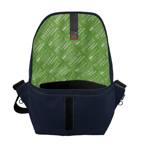 Mental Health Nurse Pride-Attributes/Green+Heart Messenger Bag