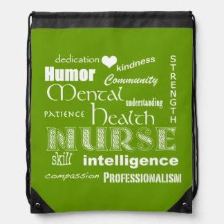 Mental Health Nurse Pride-Attributes/Lime Green Rucksacks