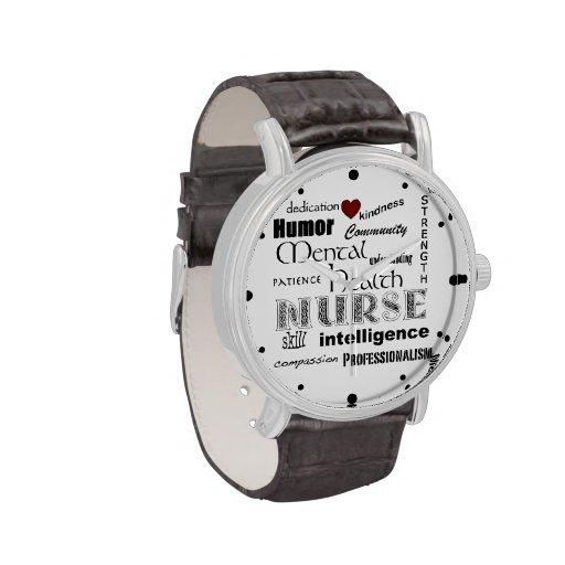 Mental Health Nurse Pride-Attributes/Red Heart Watches