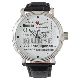 Mental Health Nurse Pride-Attributes/Red Heart Wristwatches