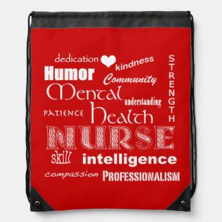 Mental Health Nurse Pride-Attributes/Red Rucksack