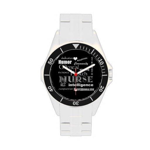 Mental Health Nurse Pride-Attributes/White Heart Watches