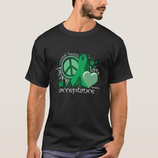 Mental Health Peace Love Acceptance T-Shirt