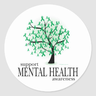 Mental Health Tree Classic Round Sticker