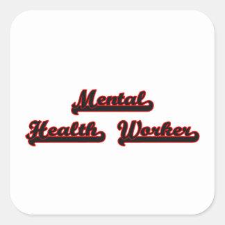 Mental Health Worker Classic Job Design Square Sticker