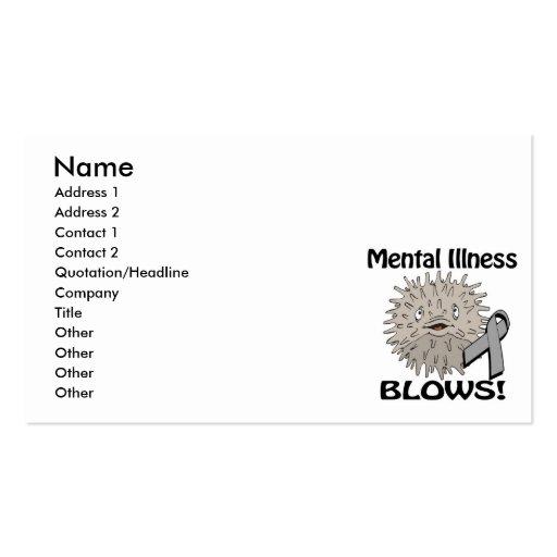 Mental Illness Blows Grey Awareness Design Business Card Template
