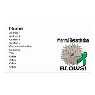 Mental Retardation Blows Awareness Design Business Cards