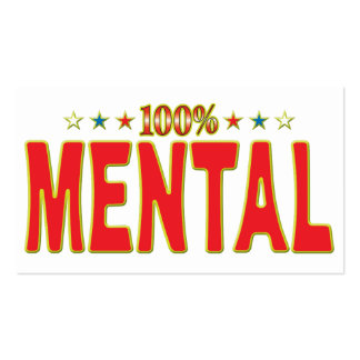 Mental Star Tag Pack Of Standard Business Cards