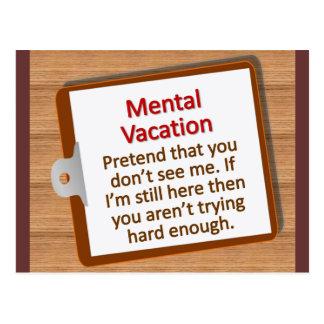 Mental Vacation Postcard