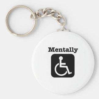 Mentally disabled. key ring