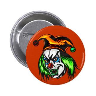 Mentally Insane Evil Clown 6 Cm Round Badge