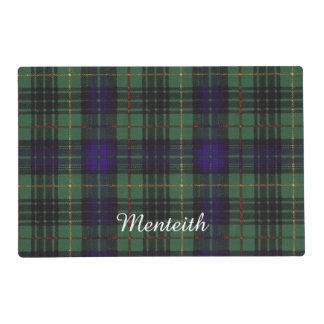 Menteith clan Plaid Scottish kilt tartan Laminated Place Mat