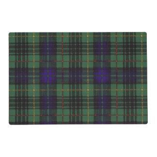 Menteith clan Plaid Scottish kilt tartan Laminated Placemat