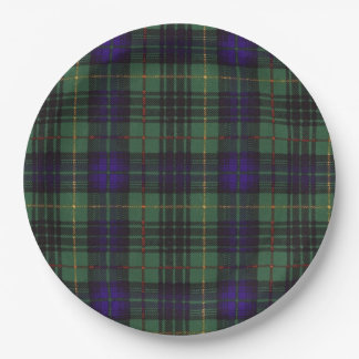Menteith clan Plaid Scottish kilt tartan Paper Plate