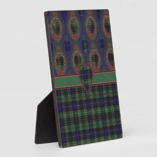 Menteith clan Plaid Scottish kilt tartan Plaque