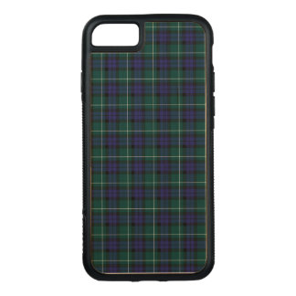 Menteith Scotland District Tartan Pattern Carved iPhone 8/7 Case