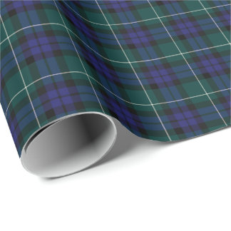 Menteith Scotland District Tartan Wrapping Paper