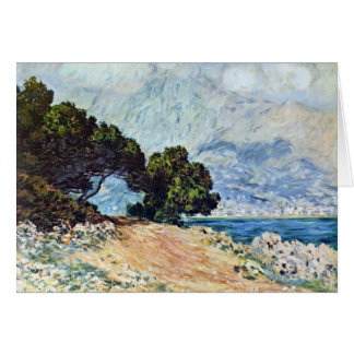 Menton Seen from Cap Martin by Claude Monet Greeting Card
