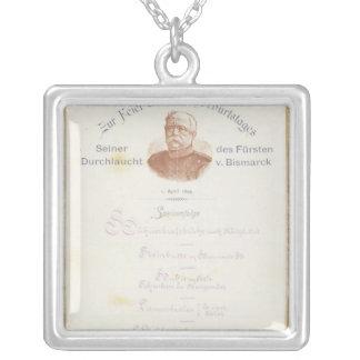 Menu at Prince von Bismarcks Silver Plated Necklace