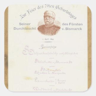 Menu at Prince von Bismarcks Square Sticker