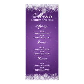 Menu Baby Shower Night Sparkle Purple 10 Cm X 24 Cm Invitation Card