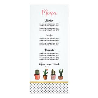 Menu Cactus Wedding Food Cards Cactus Reception