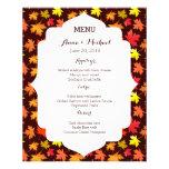 MENU Colors of Autumn Wedding Flyer Design
