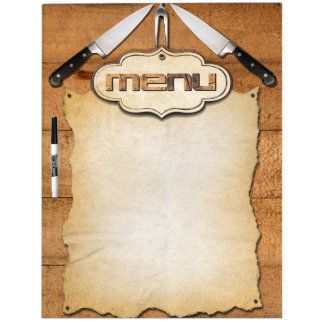 Menu Dry Erase Board