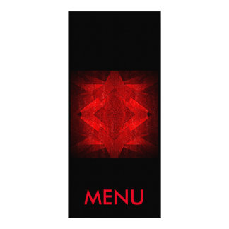 Menu Red Black Restaurant Club Vip Customized Rack Card