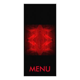 Menu Red Black Restaurant Club Vip Customized Rack Card