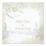Menu template ~ wedding elegant personalised announcement