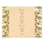 Menu templates - customisable peach orchids 11 cm x 14 cm invitation card
