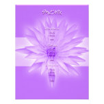 Menu templates - customisable pink lilly personalized announcement