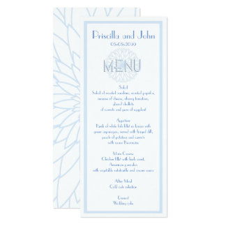 Menu Wedding,Gatsby,Stylized Monet's Dahlia thin Card