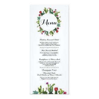 Menu Wedding Reception Cactus Fiesta Mexican Menus Card