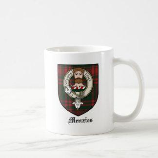 Menzies Clan Crest Badge Tartan Coffee Mug