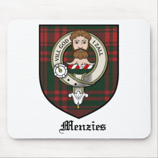 Menzies Clan Crest Badge Tartan Mouse Mat