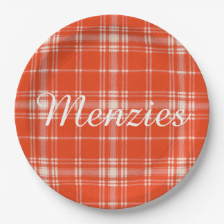 Menzies clan Plaid Scottish tartan 9 Inch Paper Plate