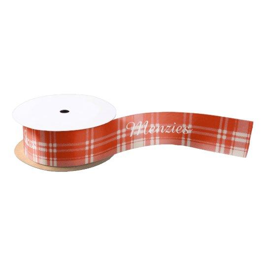 Menzies clan Plaid Scottish tartan Satin Ribbon